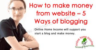 Cómo ganar dinero con el sitio web – 5 formas de bloguea