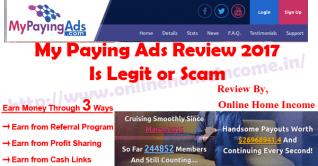 Revisión de mis anuncios de pago 2017: ganar dinero ¿Es legítimo o estafador?