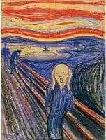 the scream 1895 pastel