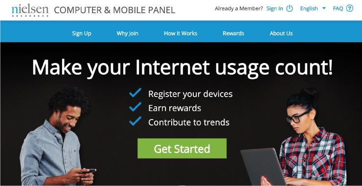 "El sitio web de Neilsen muestra que puede ganar dinero simplemente registrando un dispositivo. ""Class ="" wp-image-47777 ""width ="" 740 ""height ="" 381 ""srcset ="" https://cdn.wellkeptwallet.com/wp-content /uploads/Nielsen-mobile-survey-no-shadow.jpg 740w, https://cdn.wellkeptwallet.com/wp-content/uploads/Nielsen-mobile-survey-no-shadow-525x270.jpg 525w ""tamaños ="" (ancho máximo: 740px) 100vw, 740px"