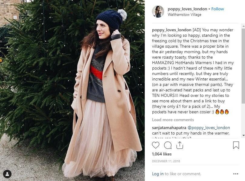 Publicador de influencia de redes sociales en Instagram