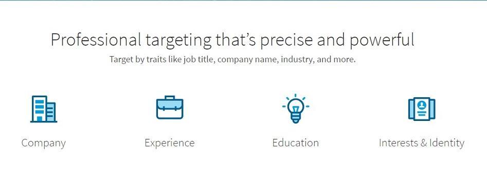 Opciones de orientación de audiencia publicitaria de LinkedIn