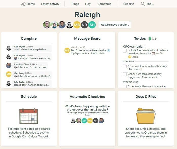 herramienta de gestión de proyectos de la agencia basecamp