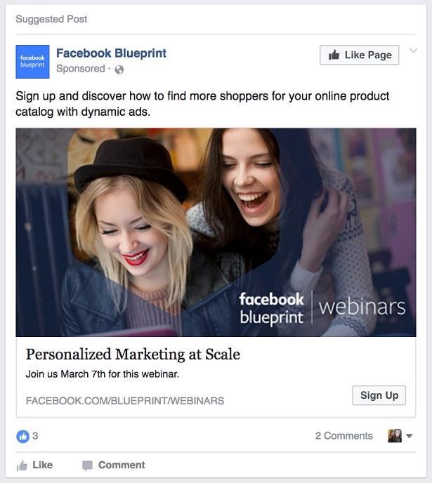 Promoción de eventos de anuncios principales de Facebook