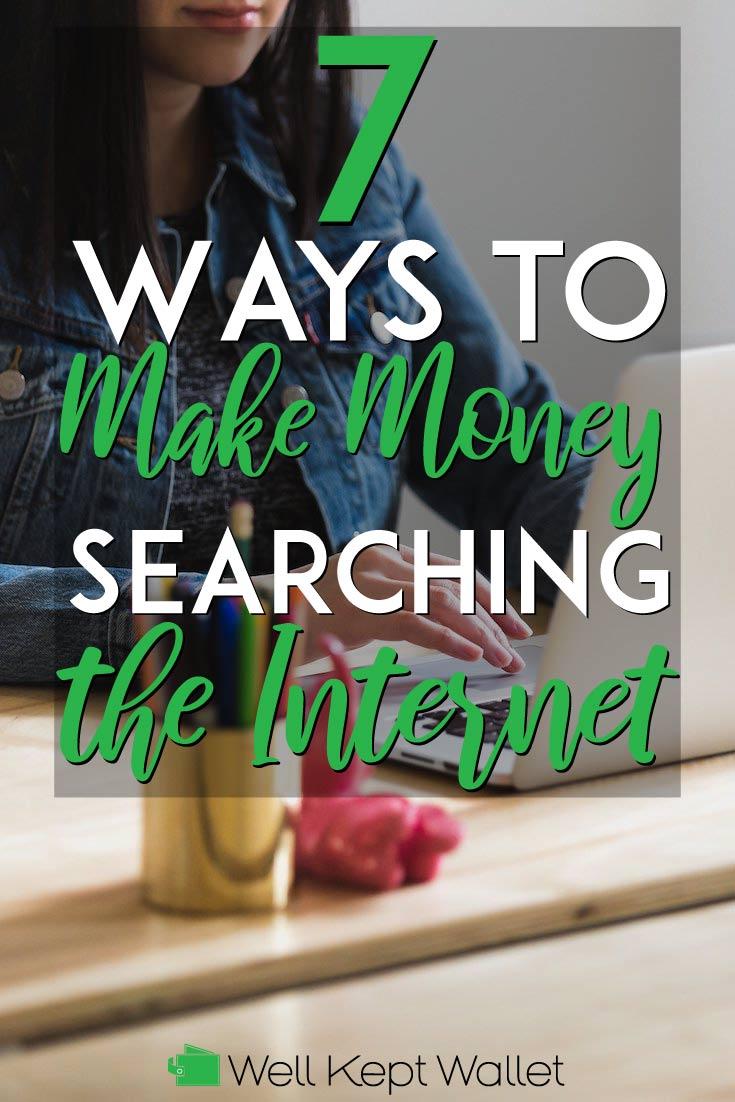 Formas de ganar dinero buscando el pin de internet pinterest