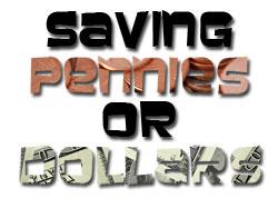 ahorrando centavos o dólares