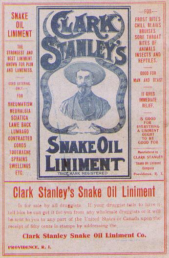 vendedor de aceite de serpiente