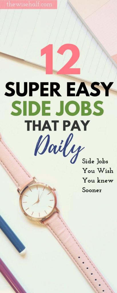 trabajos secundarios gratuitos que pagan a diario, la mitad sabia