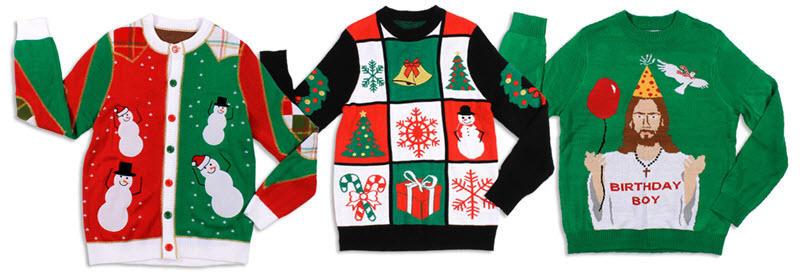 feos suéteres de navidad