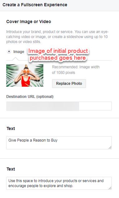 anuncios de Facebook posteriores a las vacaciones para anuncios de colección de comercio electrónico
