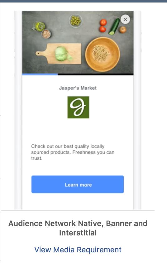 optimización de la colocación de anuncios en la red de audiencia de Facebook