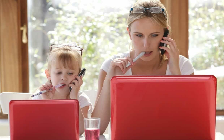 trabajos en línea mamá
