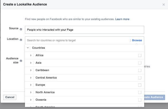 audiencias internacionales similares en facebook