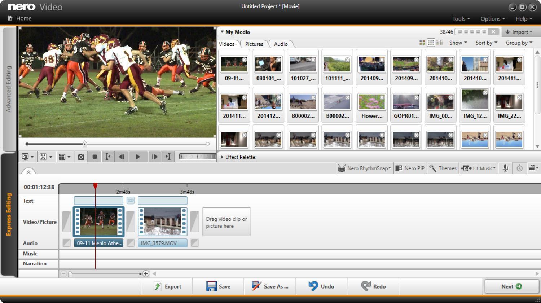 El mejor software de edición de video para principiantes Nero