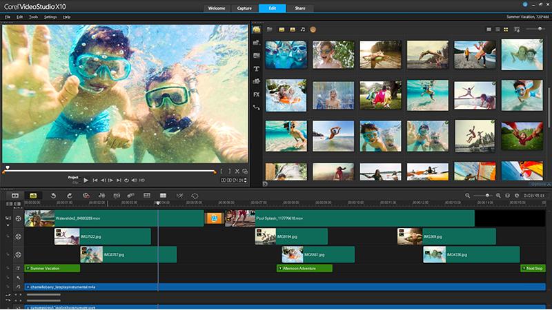 El mejor software de edición de video para principiantes Corel