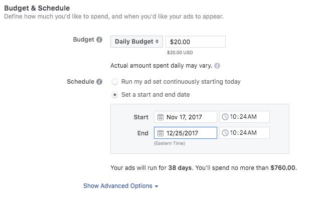configurar presupuesto de anuncios de instagram