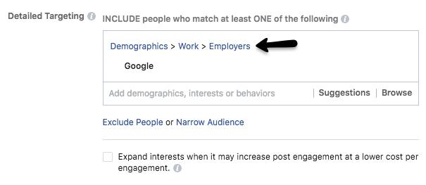 usando facebook para apuntar cuentas