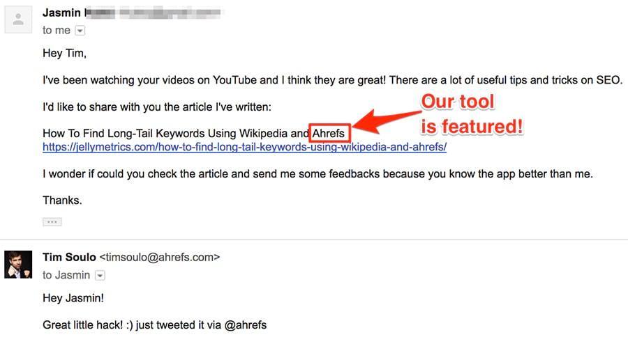 difusión por correo electrónico para promoción de contenido