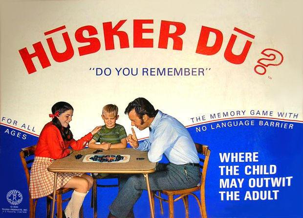 Publicidad subliminal arte de portada del juego de mesa Husker Du