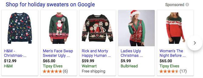 campañas de compras navideñas