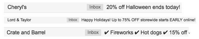 marketing por correo electrónico para las vacaciones