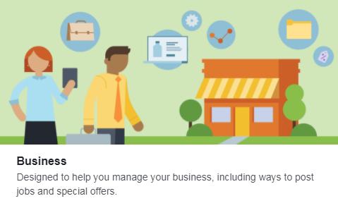 plantilla de negocios de Facebook para gestionar publicaciones