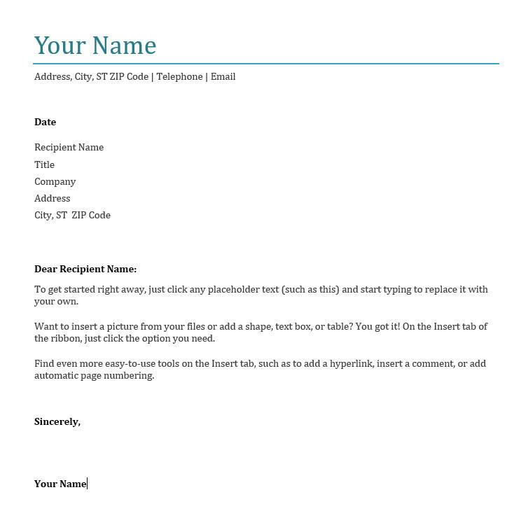 plantilla de carta de presentación