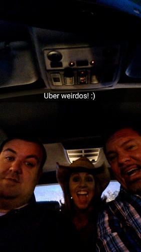 Josh Overmyer como conductor de Uber