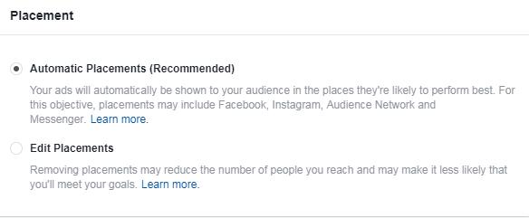 facebook para los anunciantes de b2b no usan ubicaciones automáticas