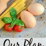 Nuestro plan para finalmente reducir nuestro gasto en alimentos