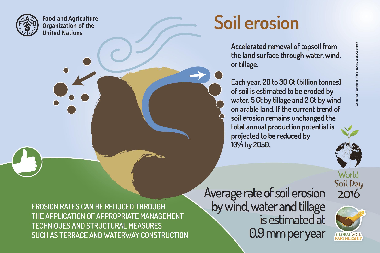 Diagrama de erosión de la capa superficial del suelo del marketing ético