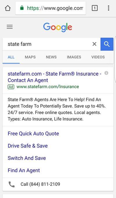 búsquedas de marcas móviles de state farm