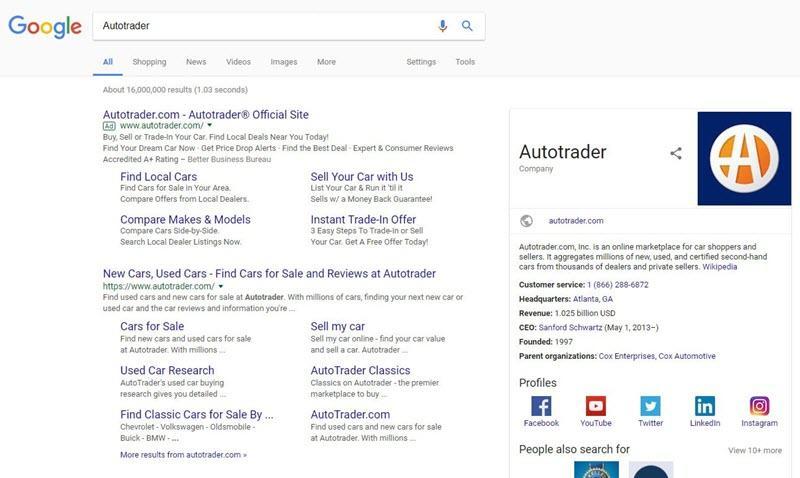 comparar búsquedas de marca en dispositivos