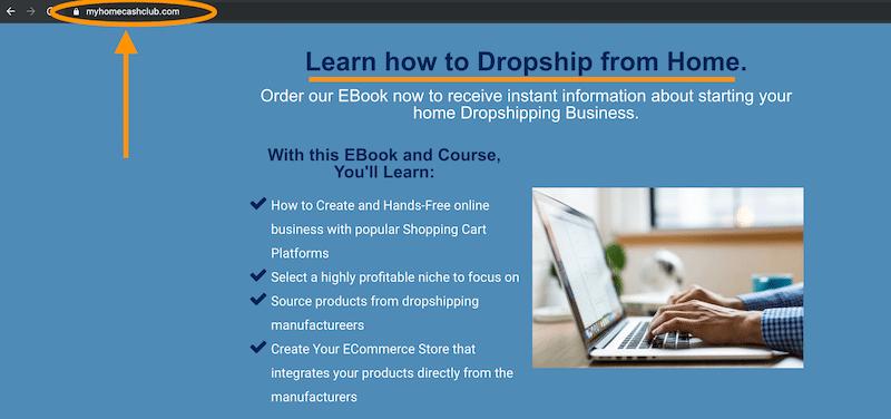 Página de inicio Hablando de Dropshipping