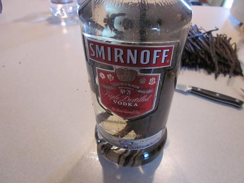 Frijoles en una botella