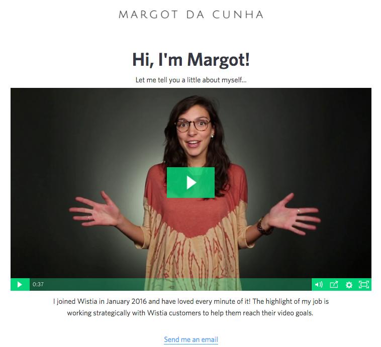 Cómo construir una cultura de video en su empresa, use el ejemplo de firma de correo electrónico de video