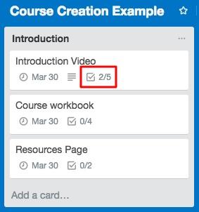 Cómo usar Trello para planificar el contenido de tu curso en línea.