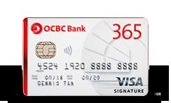 Tarjeta de crédito OCBC 365