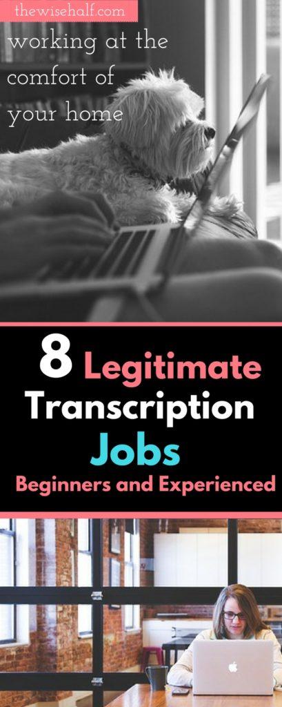 trabajos de transcripción en línea