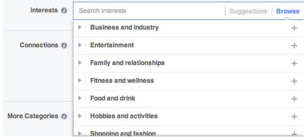 Psicografía en marketing dirigido a intereses de Facebook