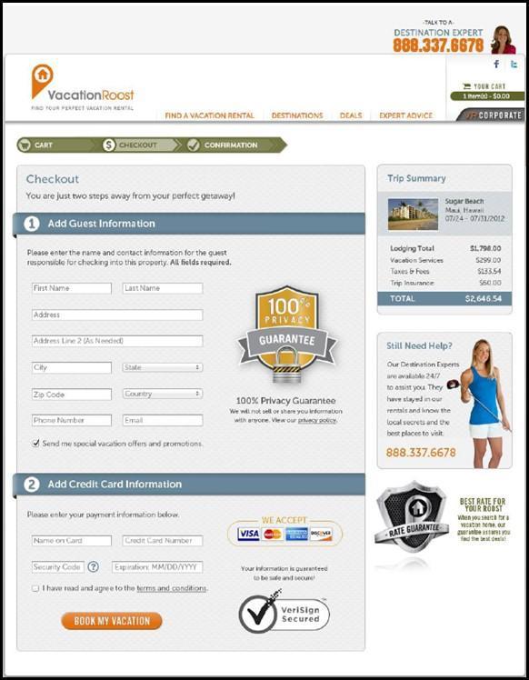 simplificar el proceso de pago en la página de destino
