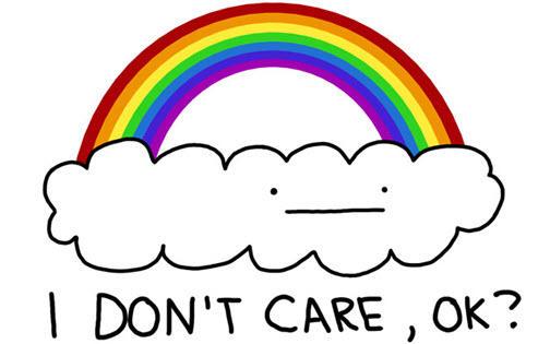 Copia del sitio web No me importa la ilustración del arco iris