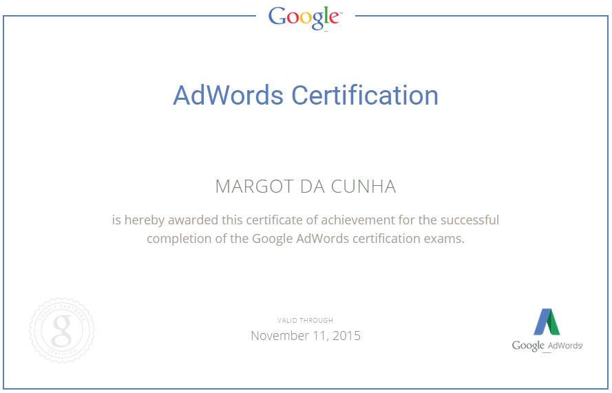 certificación de adwords