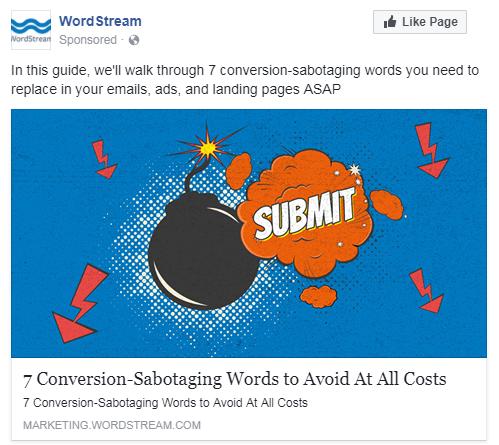 muestra creativa de audiencia amplia de facebook