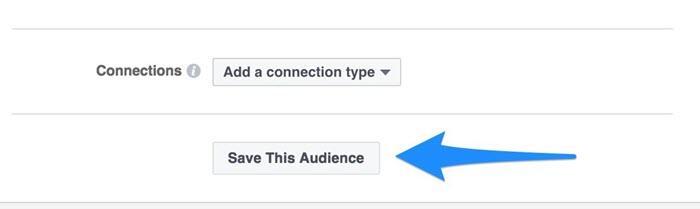 creación de audiencia de Facebook amplia vs específica