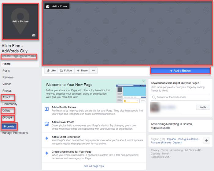 crear una página de negocios en Facebook es un proceso de varios pasos