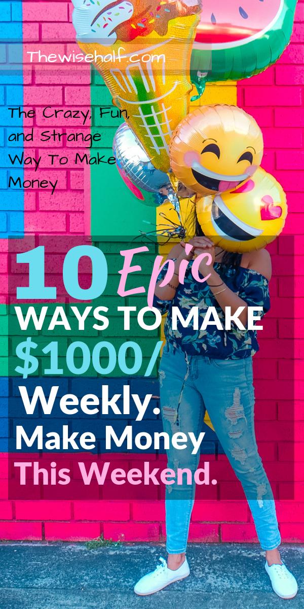 cobrar $ 1000 por semana - la mitad sabia