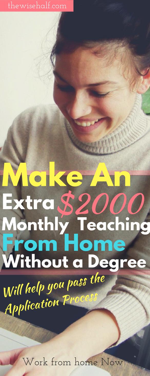 ganar dinero enseñando desde casa