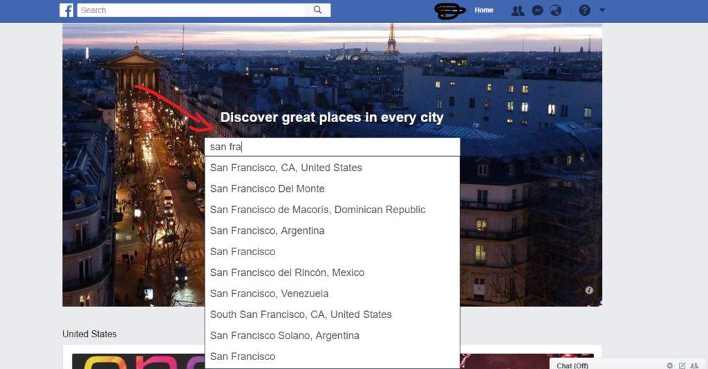 verificar la página de Facebook