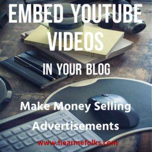 incrustar videos de youtube en el blog